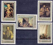Sowjetunion CCCP Briefmarken MiNr 5329-33 deutsche Maler Eremitage-Leningrad **