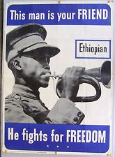 THIS MAN IS YOUR FRIEND...  Original WWII Poster.  ETHIOPIAN.  1942