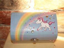 Unicorn Glitter ispirato Ciondolo Box, portagioie, ragazzina Regalo Regalo di Natale.