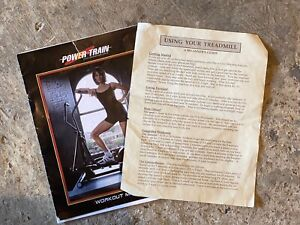 Power train Treadmill booklet