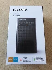 Sony ICFP26 Portable Radio - Black
