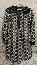 Ann Taylor LOFT Popover Shirt Dress Gray Geometric Print SP Petites