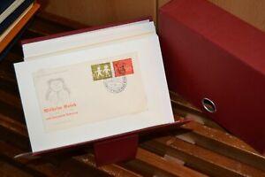 HAWID-Kassette mit rund 30 FDCs Bund BRD 1958/1959 (110)