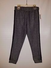 NWT BLACK & GRAY BABY INFANT TODDLER SWEAT PANTS BOY OR GIRL BY DKNY SIZE 5