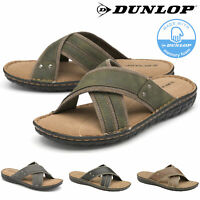 Dunlop Mens Sandals Flip Flops Slip On Memory Foam Sliders Open Toe Size 7-12