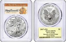 2017-(W) Silver Eagle MS70 PCGS First Strike THOMAS S CLEVELAND Population 150!*