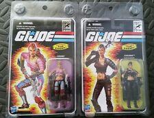 GI JOE SDCC ZARANA lot pink & cold slither 2011 25th Comic Con Exclusive + Bonus