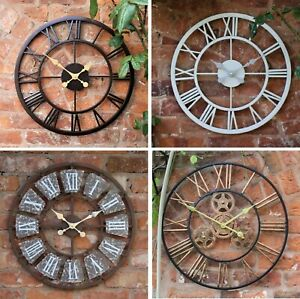 Garden Ornament Wall Clock Open Face Station Church Tower Clock Indoor Outdoor