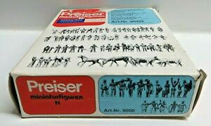 Preiser 9000 H0 120 Figurines Train Staff Travelling Passers Workers Animals Ob