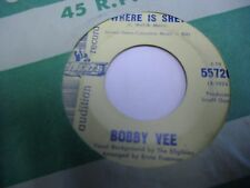 """Bobby Vee Where Is She / How To Make a Farewell 7"""" 45 rpm Liberty promo WLP VG+"""