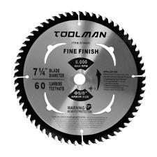 "7-1/4""60T Arbor 5/8"" Circular Saw Blade  Table Miter Cutting for DeWalt & Makita"