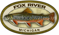 Little Manistee River Sticker Fly Fish Fishing Decal GUARANTEE 3 yrs no fade