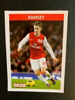 FICHE COLLECTOR ONZE MONDIAL ROOKIE RAMSEY FRENCH ISSUE MAGAZINE 2012 ARSENAL