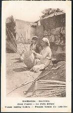 POSTCARD Macedonia Thessaloniki Small Traders Basket Weavers c1915 perf