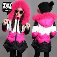 Kids girls winter coat jacket Korean big virgin cotton jacket children