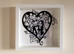 Box Frame Vinyl Decal Sticker Wall art Quote Nightmare before Christmas Jack