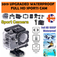 Full HD 1080p Sports Cam Acción Sumergible Cámara Video Casco de Bicicleta DVR Reino Unido Stock