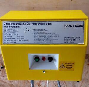 Haas und Sohn Ölpumpe Heizölpumpe Druckspeicher Ölversorgung Generalüberholt