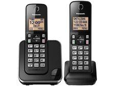 Panasonic Dect 6.0 Kx-Tgc352B 2 Cordless Phones w/Call Block Black New