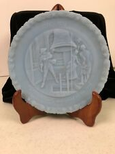 Fenton 1976 Blue Bicentennial Proclaim Liberty Collector Plate