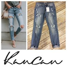 Kancan Lightwash Distressed Skinny Jeans