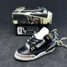 Air jordan III 3 Retro Oregon Duck PE 3D Sneakers Keychain 1:6 Figure+Shoes Box