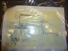Hercules R50 S Roller Kabelbaum Kabelsatz Nachbau incl. farbigem Schaltplan