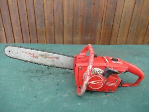 "Vintage HOMELITE XL-1 Chainsaw RED Chain Saw with 16"" Bar"