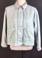 Topshop Boutique Duck Egg Blue Boxy Oversized Denim Shacket Jacket 10 Pockets