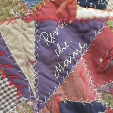 "ANTIQUE 1899 REMEMBER THE MAINE CRAZY QUILT~Initials~Dated~80"" X 66-1/2""~Ohio"