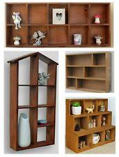 Wooden Pigeon Hole Wall Shelf Storage Shelving Hanging Rustic Decor Display Unit