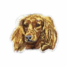 Spaniel Dog (Iron on) Embroidery Applique Patch Sew Iron Badge