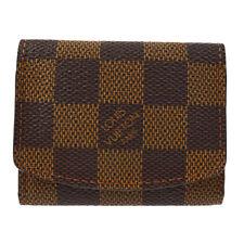 Authentic Louis Vuitton Cuffs Case Pouch Damier Ebene Vintage Ak26238a