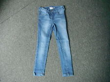 "Next Skinny Jeans Waist 21"" Leg 21"" Faded Medium Blue Girls 7 Yrs Jeans"