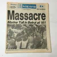 VTG Philadelphia Daily News October 24 1983 - Wounded Marine Toll in Beirut