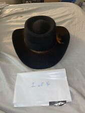 Arlop Vintage Cowboy Hat Mens Size US 7 3/8 & Mexico Size-59 Black Felt  1 of 4