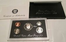 1995 S Silver Proof Set 95 U.S. Mint Silver Proof Set Box and COA 3 Silver Coin