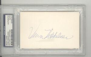 Vern Mikkelsen auto autograph index card PSA DNA HOF Hall Fame Minneapolis Laker