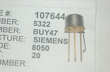SIEMENS BUY47 Gold Leaded 3-Pin Transistor New Lot Quantity-1