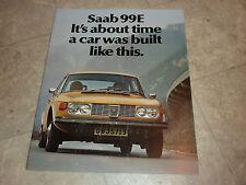 1972 SAAB 99E LITERATURE MANUAL BROCHURE PAMPHLET
