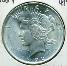 1922-P PEACE SILVER DOLLAR - CHOICE BU