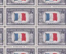 915 Flag Of France M Nh Full Sheet Of 50