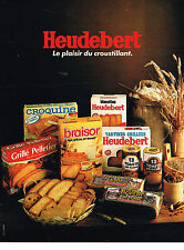 PUBLICITE ADVERTISING 064  1981  HEUDEBERT  biscottes tartines grillées