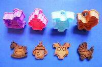 3D Baby Shower Hand Press with stamp biscuit cookie cutter set