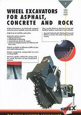 Simex T 300 450 600 Wheel Excavator Asphalt Concrete Rock Prospekt 3 01 2001