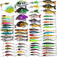 Lot Fishing Lures Crankbaits Hook Bionic Bait Tackle Minnow Shrimp 3/4/7/8/10Pcs