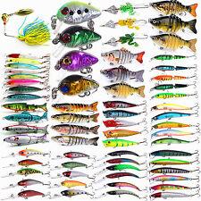Lots Fishing Lures Crankbaits Hook Bait Tackle Minnow Shrimp 3/4/5/7/8/10Pcs