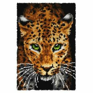 Leopard Latch Hook Kit, Rug Making Kit By Orchidea, 50x74.5cm Printed canvas