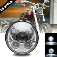 """5 3/4"""" 5.75 inch LED Chrome Headlight Projector For Motor Sportster XL 883 1200"""