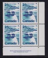 Canada Sc #597vi (1972) 25c Polar Bear OP2 LF LR Plate Block Mint VF NH